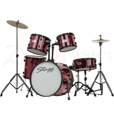 "Image of Stagg 20"" Full Size Drum Kit - Red"