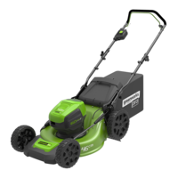 Greenworks 60v 46cm Cordless Hand Propelled Lawnmower GD60LM46HP (Tool Only)