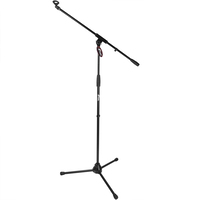 Tiger Boom Microphone Stand with 5/8 inch Mic Clip - Black