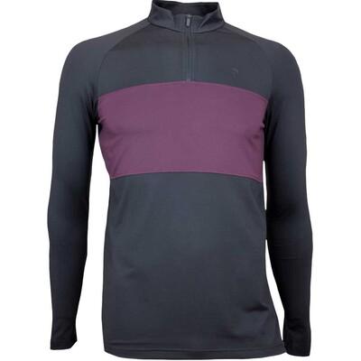 Peak Performance Golf Shirt LS Base Layer Black AW17