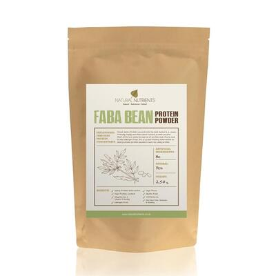 Natural Nutrients Faba Bean Protein Powder Unflavoured 250g