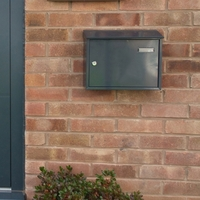 Taylor Anthracite Grey Letterbox - non personalised version