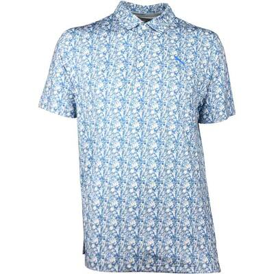 Puma Golf Shirt Botanic Polo LE Blue Floral SS18