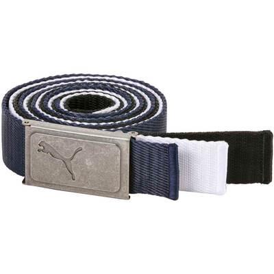 Puma Golf Belts 3 in 1 Web Pack Peacoat White Black AW18