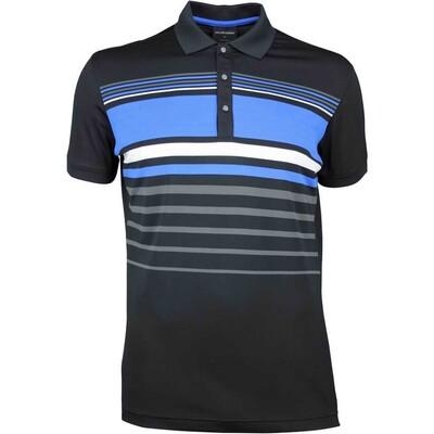 Galvin Green Golf Shirt MAYER Black Kings Blue SS18