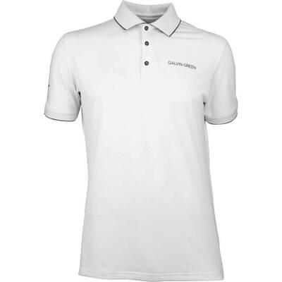 Galvin Green Golf Shirt MARTY Tour White SS20