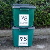 Wheelie bin address stickers 6 pack – personalised with your address