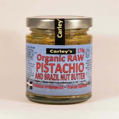 Carleys Organic Raw Pistachio Nut Butter 170g