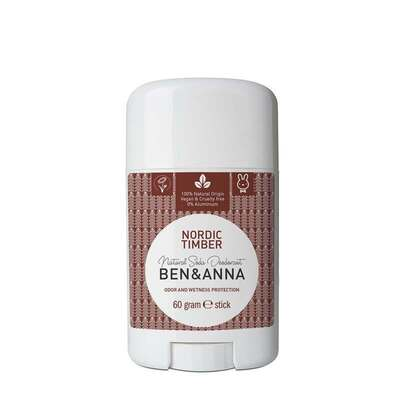 Ben & Anna Nordic Timber Natural Soda Deodorant 60g