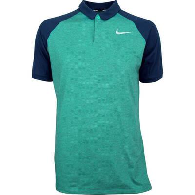 Nike Golf Shirt NK Dry Raglan Neptune Green AW18