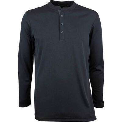 Adidas Golf Shirt Adicross No Show Range Henley Black AW18