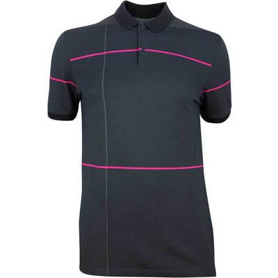 Nike Golf Shirt NK Dry Pique Open Tartan Black AW18