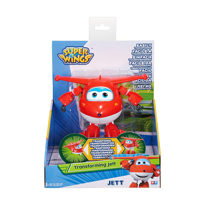 Super Wings - Transforming Vehicle, Series 1, Jett , Plane, Bot, 5 Figure