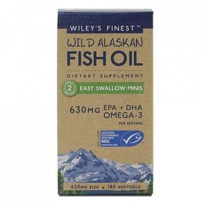 Wiley's Finest Fish Oil Easy Swallow Minis 180 Capsules
