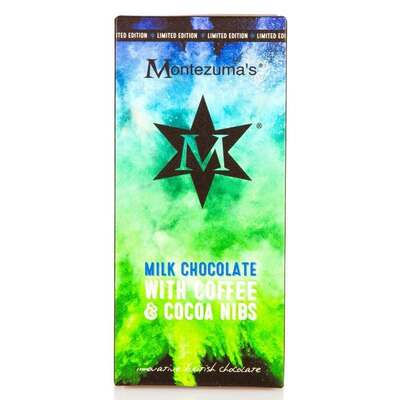 Montezumas Milk Chocolate Bar with Coffee & Cocoa Nibs 100g