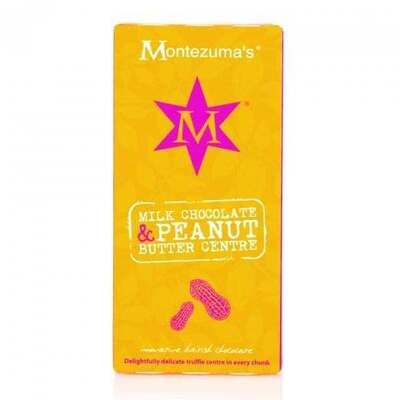Montezumas Milk Chocolate with Peanut Butter Truffle Bar 100g