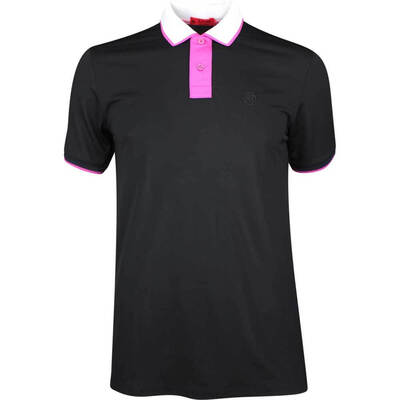 GFORE Golf Shirt Contrast Polo Black Ink SS19
