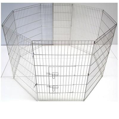 Puppy Play Pen Pet Enclosure – Silver