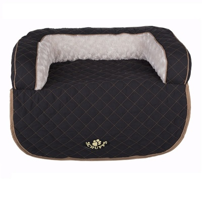 Scruffs Black Wilton Sofa Pet Bed