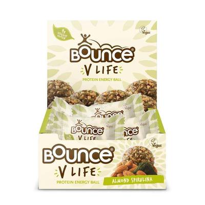 Bounce V Life Vegan Almond & Spirulina Bounce Balls - Pack of 12