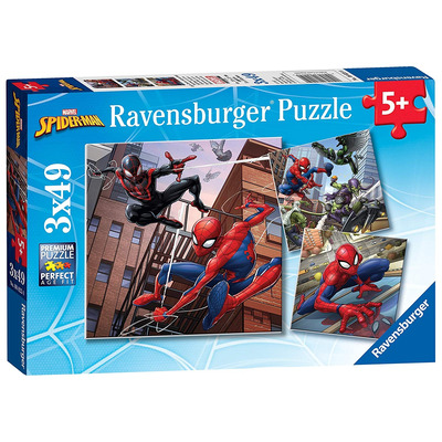 Ravensburger Marvel Spider Man, 3x 49pc Jigsaw Puzzles