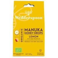 ORGANIC Natural Manuka Honey Drops Lemon 120g