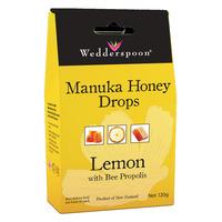Natural Manuka Honey Drops Lemon 120g