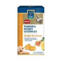 MGO 400+ Manuka Honey Lozenges with Ginger & Lemon  65g 15's
