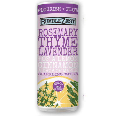 Bumblezest Rosemary Thyme & Lavender Sparkling Water 250ml