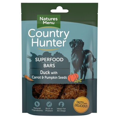 Natures Menu Duck with Carrot & Pumpkin Seeds Superfood Bars