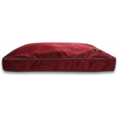 Hunt & Wilson Luxury Personalised Corduroy Cushion Dog Bed - Medium: 80x60 cm Wine