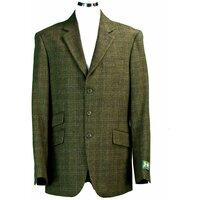 Hunter Outdoor Fern Mens Wool Tweed Patch Elbow Jacket / Blazer - 42 Dark Green