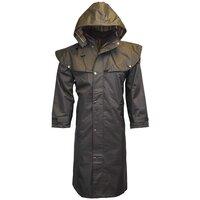 Walker & Hawkes Unisex Midland Waterproof Black Rain Coat - XS