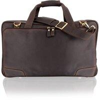 Woodland Leather Cowhide Brown Weekend Bag / Holdall - Brown