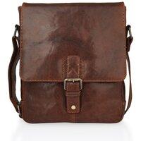 Woodland Leather Mahogany Shoulder Bag - Large - Mahogany