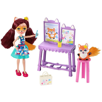 Enchantimals Art Studio Playset with Felicity Fox Doll, 6