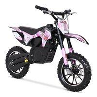 FunBikes MXR 500w Lithium Electric Motorbike 61cm Pink/Black Kids Dirt Bike