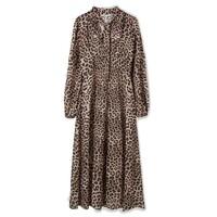 Safari 70's Dress - Leopard