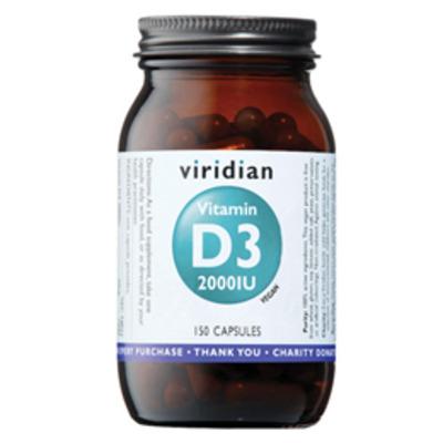 Viridian Vitamin D3 2000iu 150 Capsules