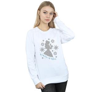 disney princess women's belle winter silhouette sweatshirt