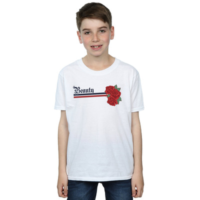 disney princess boys beauty and the beast belle stripes and roses t-shirt
