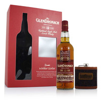 GlenDronach 12YO, Walker Slater Hip Flask Gift Pack
