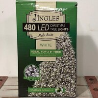 480 Multi Function LED White Christmas Lights by Jingles