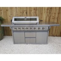 Draco Grills Z650 6 Burner Stainless Steel Gas Barbecue with Cabinet and Side Burner [barbecue only]