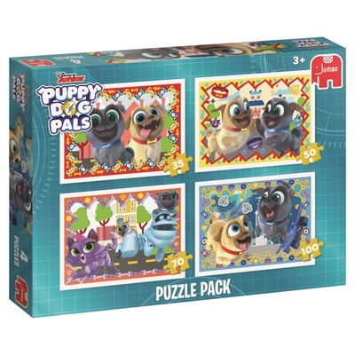 Jumbo 19628 Puppy Dog Pals 4 In 1 Puzzle Pack Jigsaw