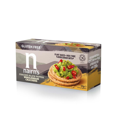 Nairn's Gluten Free Cracked Black Pepper Crackers 137g