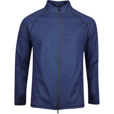 GFORE Golf Jacket Skull Ts Embossed Mid FZ Twilight AW19
