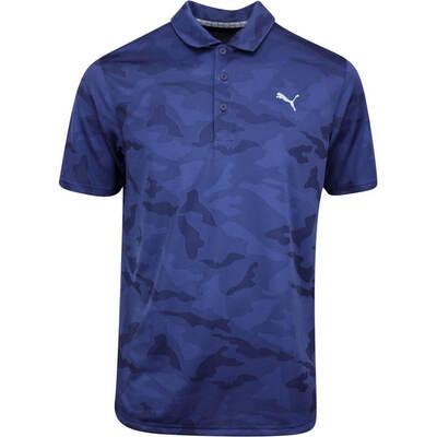 PUMA Golf Shirt Alterknit Camo Peacoat AW19
