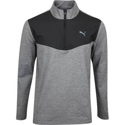 PUMA Golf Pullover Preston QZ Black Heather AW19