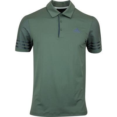 adidas Golf Shirt Gradient Sleeve Polo Legend Earth AW19